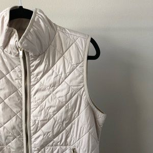 Old Navy Jackets & Coats - EUC | Old Navy Cream Vest with Gold Accent